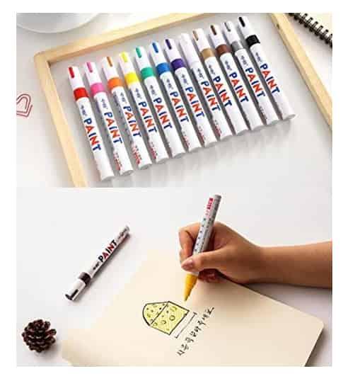 Waterproof-metallic-paint-marker-pens